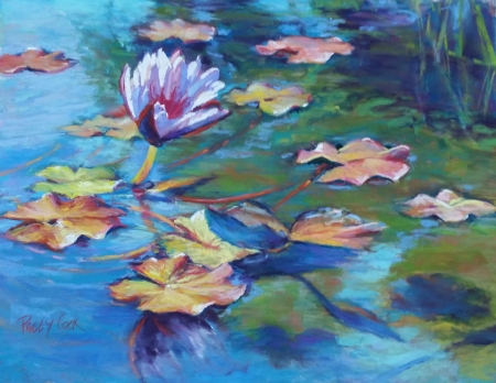 Water Lilies in Autumn (Study 2) by artist Peggy Cook